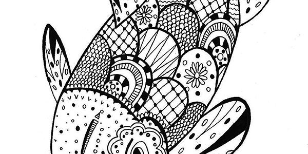 floating on by this koi awaits a world of color and relaxation - Koi Fish Coloring Pages