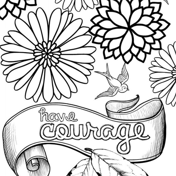 Have Courage And Be Kind Enlightened Coloring
