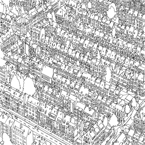 Urban Density Enlightened Coloring